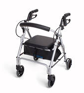 Mobilis Narrow Walking Frame - Silver