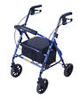 "Mobilis Plus Walking Frame - Purple with 8 "" Wheels"
