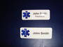 Star of Life Name Pin